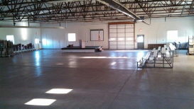 Open indoor area of the Agriculture Building Bay of the Elbert County Fairgrounds